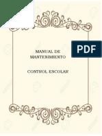Manual de Mantenimiento