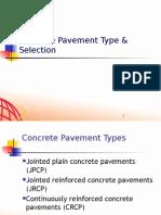 Rigid Pavement Overview_Concrete Type