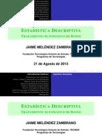 Exposición de Contenidos Programáticos de Estadística Descriptiva (Primera Unidad)