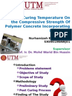 EFFECT OF CURING TEMPERATURE ON THE COMPRESSIVE STRENGTH OF POLYMER CONCRETE INCORPORATING MICROFILLER