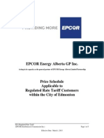 March 2015 Price Schedule - EPCOR Power
