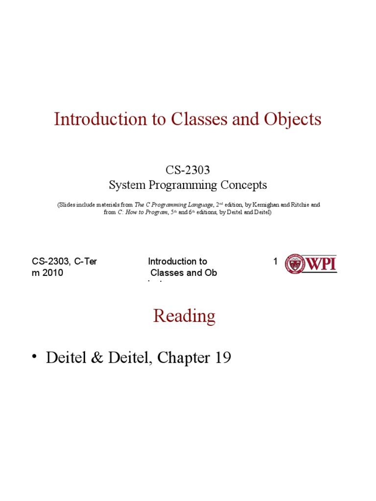 Week4_Classes ppt | Class (Computer Programming