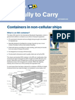 Containers in Non Cellular Ships