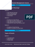 Event Management Contents