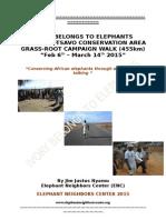 2015 Amboseli-Tsavo Ivory belongs to elephant campaign walk report