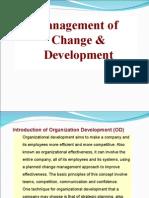 Mangament of Change of Devpmt Topic Organisation Devlpmt OD