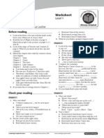 Just Like a Movie - English Grammar, Worksheet