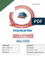 Practical File SQL queries & DBMS