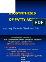 Biosynthesis Fatty acids