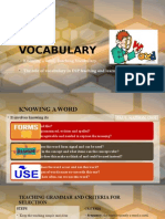 ESP Vocabulary