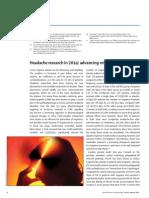 Headache Research in 2014 Advancing Migraine Therapy