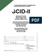 Interviu Clinic Structurat Axa II(SCID II)