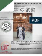 Exposición sobre Kanji en las Artes Marciales en el CRAI Antonio de Ulloa