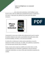 Comment Débloquer Un Téléphone Ou Comment Débloquer Un Portable