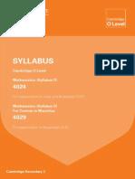 cambridge syllabus 2015