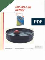 AutoCAD 2011 3D Rendu