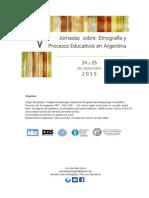 V Jornadas Etnografía 2015 1ra Circular