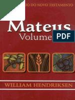 William Hendriksen - Comentário Do Novo Testamento - Mateus - Volume 2(1)