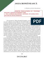 A.manoil Si a.golopentia - Sociologia Romaneasca