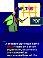 Sampling method in thesis