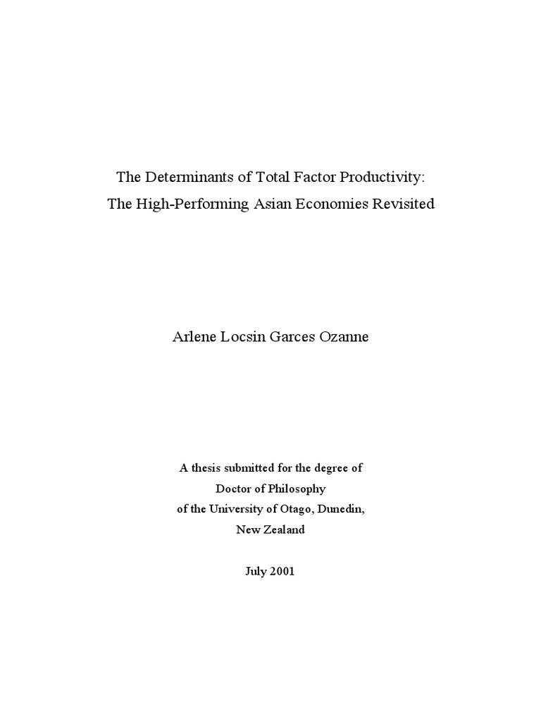 Phd thesis in economic development
