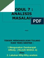 Modul 7 Teknik analisis punca masalah