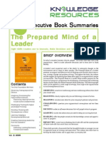 Vol 8 the Prepared Mind of a Leader