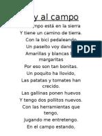 Concurso poesía Voy al campo victor 1º poesía