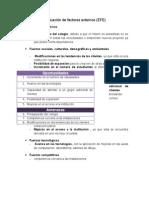 Evaluación de Factores Externos de un colegio