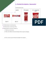 2 investigation supermarket (kitkat) for students
