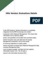Vendors Evaluations Details