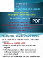 6. Paradigma Administrasi Publik