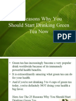 Drinking of Green Tea