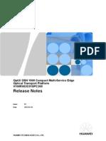 OptiX OSN 1800 V100R003C01SPC300 Release Notes