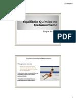 3 - Equilíbrio Químico No Metamorfismo - Regra Das Fases