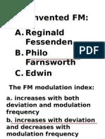 FM Review Multiple Choice