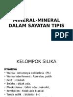 Mineral-mineral Dalam Sayatan Tipis