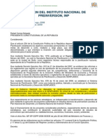 Decreto Ejecutivo Instituto de Preinversion