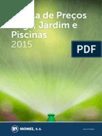 Tabela de Preços Rega, Jardim e Piscinas 2015