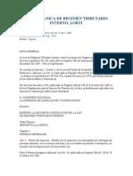 Ley de Regimen tributario interno