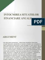 Intocmirea Situatiilor Financiare Anuale