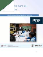 Gestión Gubernamental en El Sector Educativo