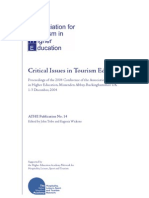 Critical Issues OnTourism Education