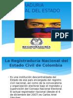 Exposicion de Registraduria Nacional Del Estado Civil