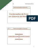05. Acetatos Combinações de Erros Em Sistemas de Medida