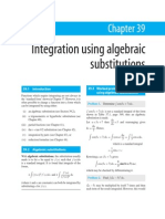 Integration Using Algebraic Solution