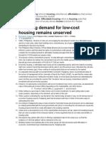 Affordable Housingds