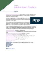 Facial Feminization Surgery Procedures
