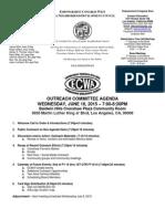 ECWANDC Outreach Committee Agenda - June 10, 2015