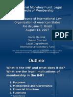 IMF Legal Aspects of Membership